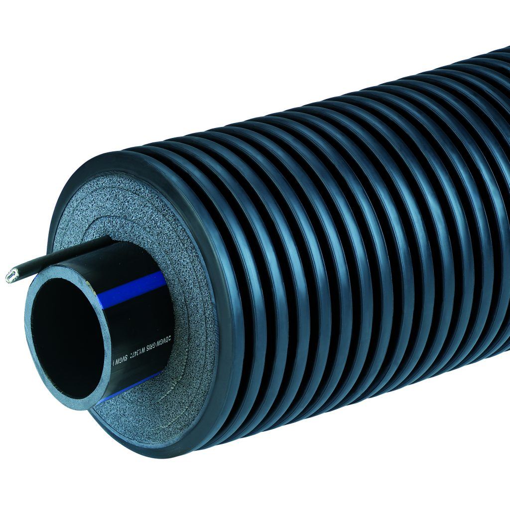 Трубопровод AustroPEX CW 175/75/6,8 РЕ PN16 с кабелем 10 Вт/м