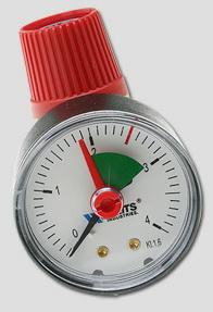 "Клапан предохранительный c манометром SVM 1/2"" х 2,5 бар Watts 02.15.725"