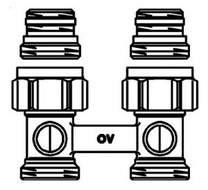 """Присоединительный узел """"Multiflex F"""" (ZB) угловой для отопительных приборов Oventrop 1015814"""
