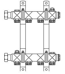 "Гребенка ""Multidis SH"" 1"" на 12 контуров Oventrop 1407062"