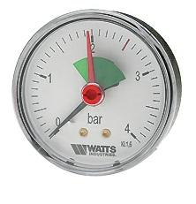 "Манометр аксиальный MHA 63/4 х 1/4"", Ду 63 мм., 0-4 бар, Watts 03.22.705"