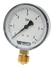 "Манометр радиальный MDR 50/6 х 1/4"", Ду 50 мм., 0-6 бар, Watts 03.12.106"