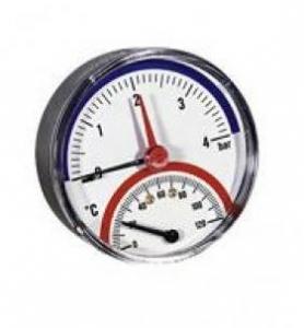 """Термоманометр аксиальный TMAX 4 х 1/2"""" Watts 03.32.004"""