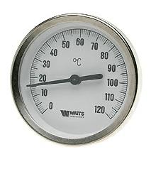Термометр биметаллический с погружной гильзой T 80/50 Watts 03.02.040