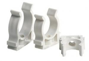 Крепление для пластиковых труб белое Ду 16 мм.