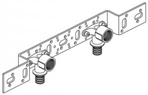 Трубка (нерж.) для подкл-я радиатора, Г-образная 16/250 Rehau 266242-001