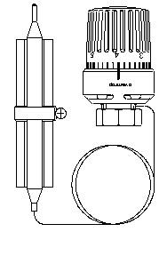 Терморегулятор с накладным датчиком 50-80 C Oventrop 1142864