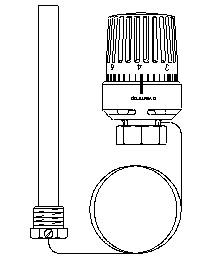 Терморегулятор с погружаемым датчиком 50-80 C Oventrop 1140563
