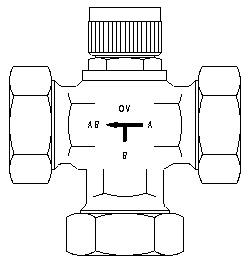 """Трехходовой распределительный вентиль «Тri–M» Ду 25 1"""" Oventrop 1131712"""